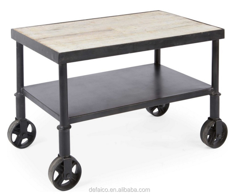 Rustic Industrial Small Cart Side Coffee Table Buy Rustic Side Coffee Table Rustic Cart Side