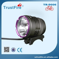 Convenient searching light working with Cree Led!TrustFire D006 bike light,super bright long beem Led torch