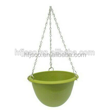 Best quality eco-friendly non-toxic bamboo fiber powder hanging flowerpot