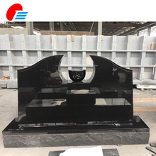 Wholesale Western High Quality Cheap Black Granite Headstone