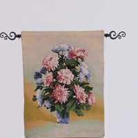 PLUS Chinese flower tapestry wall hangings for home decor
