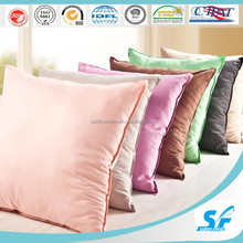 Luxury hotel bedding supplies colorful cotton microfiber/feather pillow