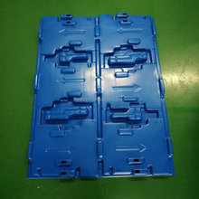 Blue Vacuum Thermoforming Plastic Thick Tray for Auto Parts