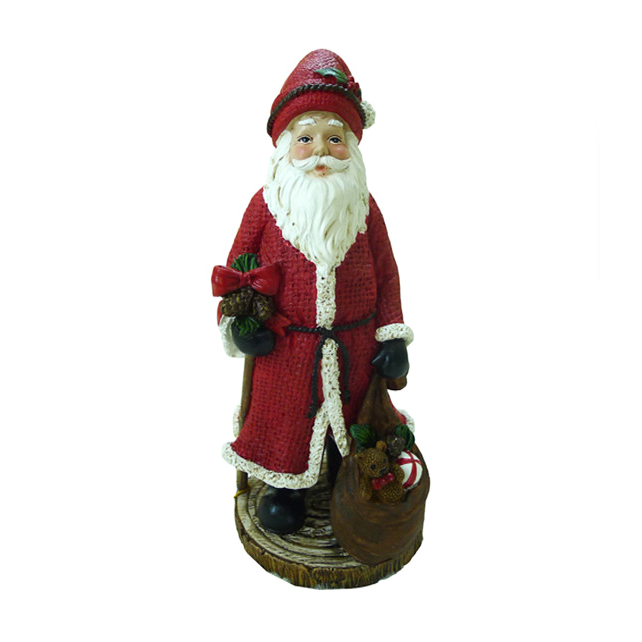 Hotsell Resin Christmas Figurine Decoration Standing White Red Large Santa Claus Figure