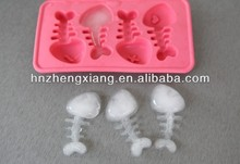 Creative ball silicone fish bones ice tray,lattice ice/jelly/pudding maker mold