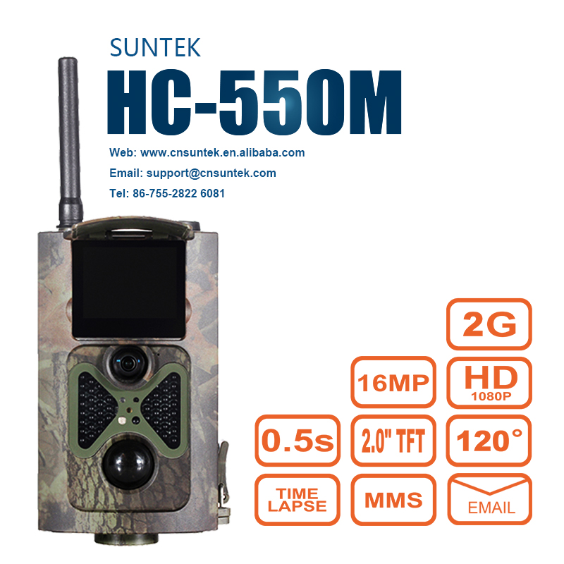 Waterproof Hunting Trail Camera with 16MP 1080P Night Vision Scout Guard GPRS MMS SMS GSM Remote Alarm