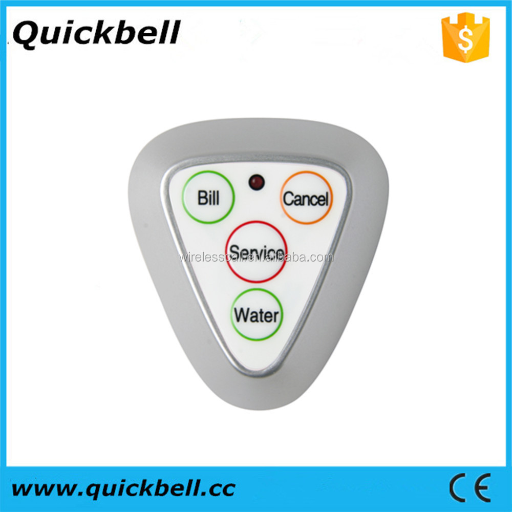 Hospital wireless call bell system,wireless call pager button