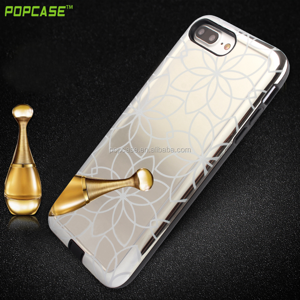 2016 new design mirror mobile phone case for iphone 7plus,PC+TPU soft back cover for iphone 7plus