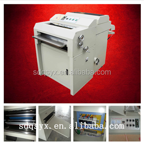 480 small roll to roll uv curing coating machine for photo album