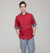 2016 New Design Short Sleeves Confortable Chef Jackets and chef uniforms