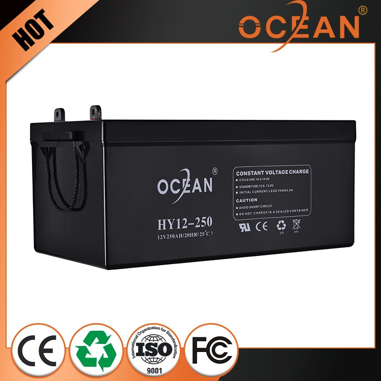 12V 250ah fashionable cheap beautiful new design AGM battery 12v