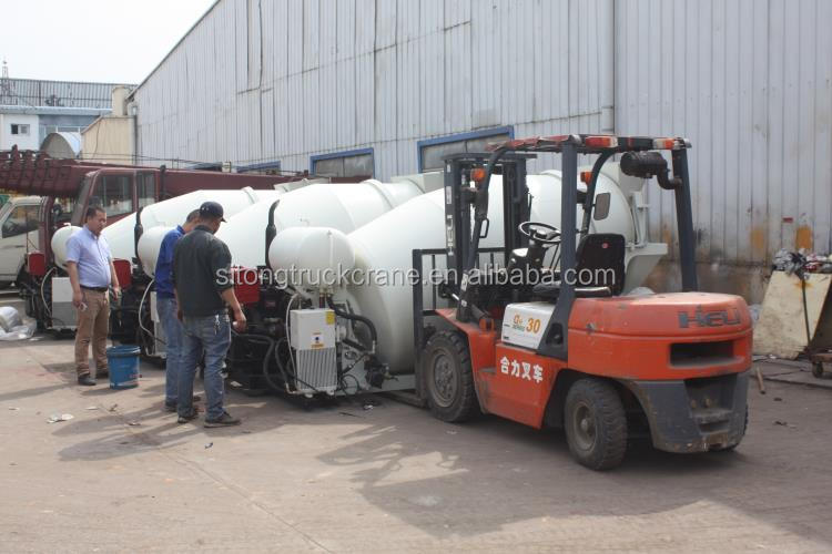 6 cbm mini cement truck mixer with diesel engine from Jining Sitong