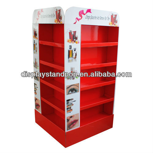Durable cardboard cosmetic display for furniture