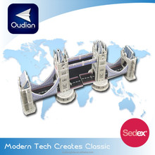OEM 2015 New Product Famous London Tower Bridge Educational DIY KT super Board 3D Puzzle for Children