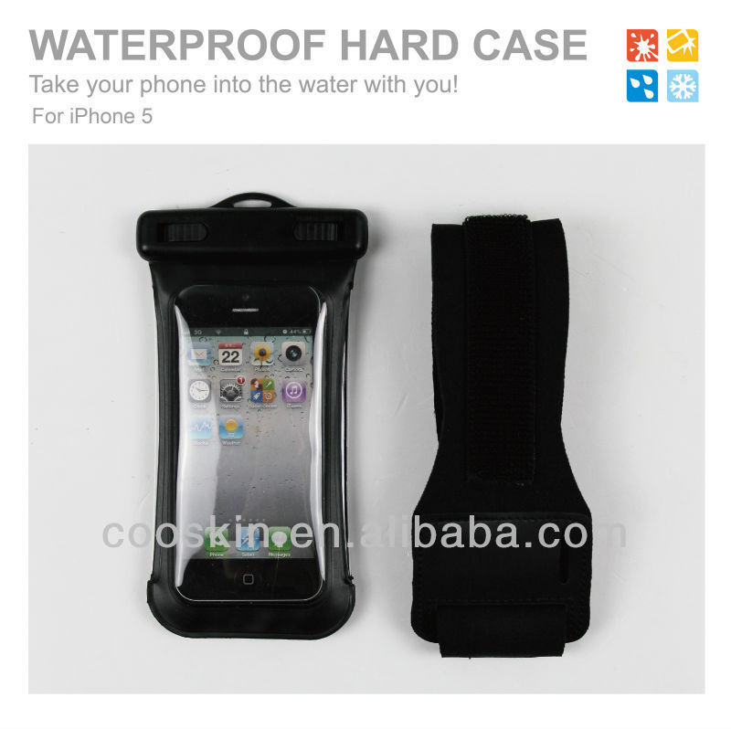 Outdoor sport running waterproof phone holder mobile phone apple for iphone 5 water resistant phone bag for iphone with armband