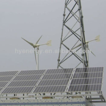 Wind solar hybrid system for telecom base station China wind turbine manufacturer