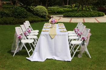 factory supply strong folding chair plastic for wedding