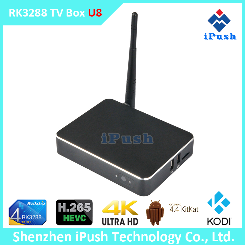 Android 4.4 RK32888 Quad Core Mini PC U8 USB WiFi XBMC/KODI Smart TV