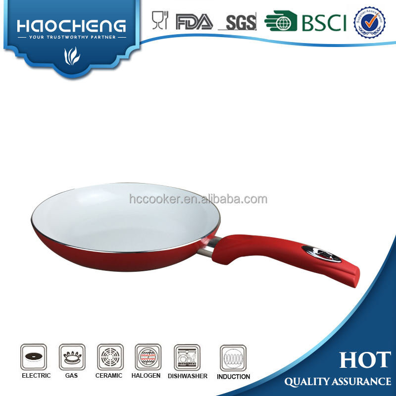 Hot TV Show Red Aluminum Non-stick Ceramic coated Fry pan