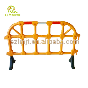 Metal / Plastic Traffic Safety Temporary Crowd Barrier