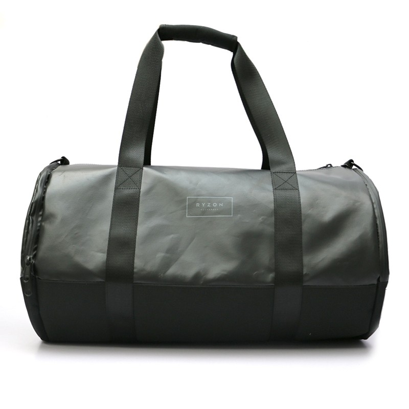 Large Capacity Leather Weekend round Gym Sport duffel travel bag leather