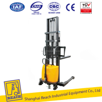 Economical Mini Hydraulic Semi Electric Forklift Stacker Straddle Legs