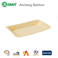 Eco friendly wooden steak tray biodegradable bamboo disposable plates
