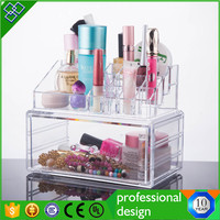 Transparent Acrylic Cosmetic Makeup Organizer Box With Lid or drawer
