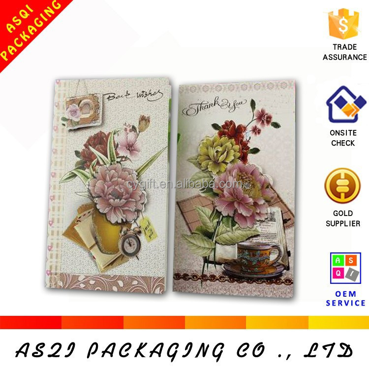 customized luxurious hot sale best wishes mothers day card