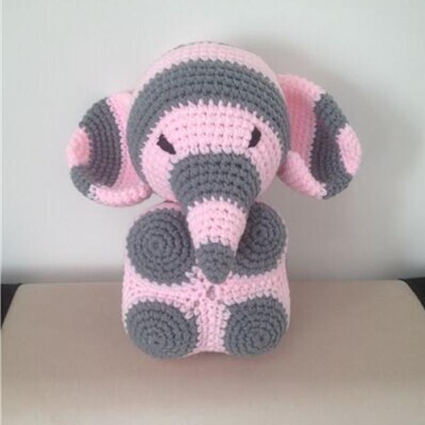 De punto de ganchillo bebé elefante de peluche juguetes de peluche ...