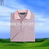 Name Brand Stripes Dry Fit Golf Shirts Wholesale