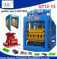 QTY12-15 automatic concrete hollow block and pavement making machine (Tianyuan Brand)