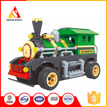 Wholesale plastic building blocks colorful plastic train electronic toy brick