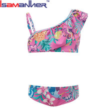 Summer baby swimwear girls, hot sexy micro kids girls bikini