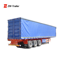 Fully Enclosed Cargo Semi Trailer Curtain Side Trailer 3 Axles Curtain Trailer