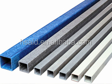 high quality pultruded structural factory supply frp grp fiberglass square tube