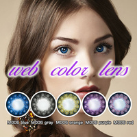 yearly colored eye korea contact lenses accept paypal with large stock