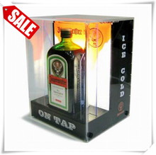 Hot selling wooden book stand holder wood whisky display cabinet
