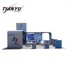 Custom size aluminum fabric trade fair island exhibition booth exhibition stand