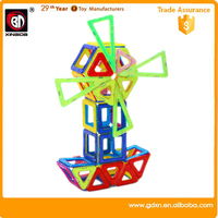 High quality wholesale plastic magnetic building blocks toy for kids 2016 chrismtas gifts