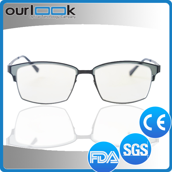 2017 Hot Sale Latest High Quality Anti Blue Ray Silhouette Glasses Titanium