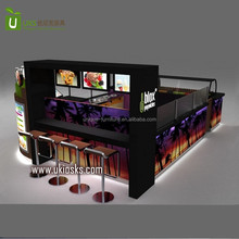 Factory direct sale retail fresh fruit juice bar kiosk with coffee kiosk manufacturer