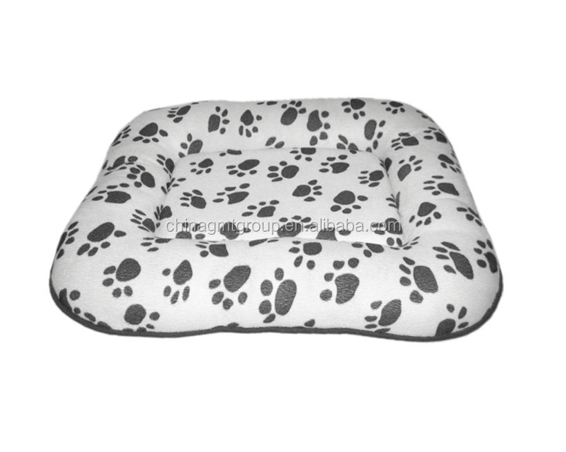 Hot selling soft pp cotton pad with paw pet heating bed dog cushion