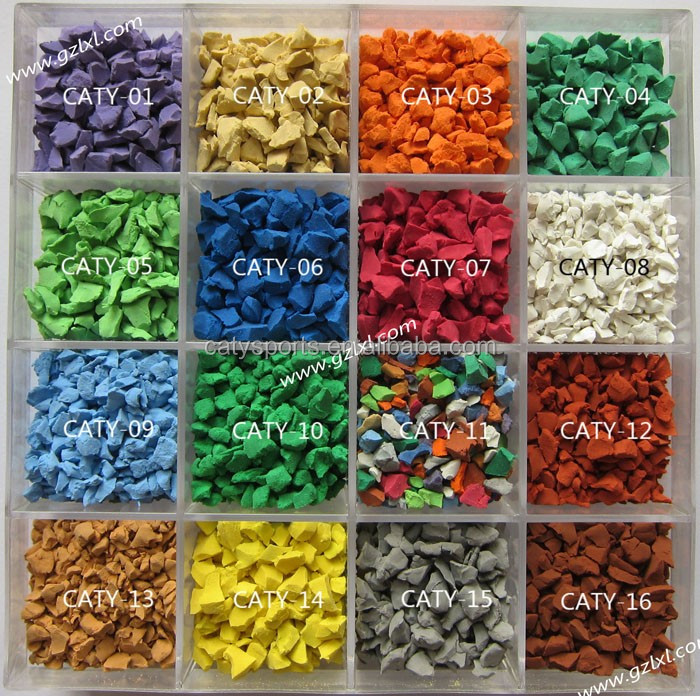 Playground kindergarten rubber surfaces /colorful virgin epdm rubber granule/15years experience factory