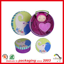 Clothing packaging paper tube pack T-shirt round box decorative bags for coat packaging