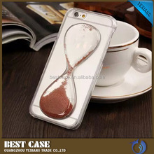 3D clear cell phone case 2016 liquid funnel style mobile phone hard back cover for samsung galaxy s6