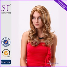 New fashion popular style curly wig blonde hair wig with highlight color