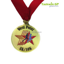 Custom high quality gold plating design metal sport medals trophies awards /