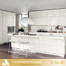 2017 Vermont White Lacquer Color Kitchen Cabinets Base Units With Benchtops Bar Backsplash