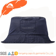 Plain Bucket Hat Wholesale Custom Nylon Bucket Hat With Pocket